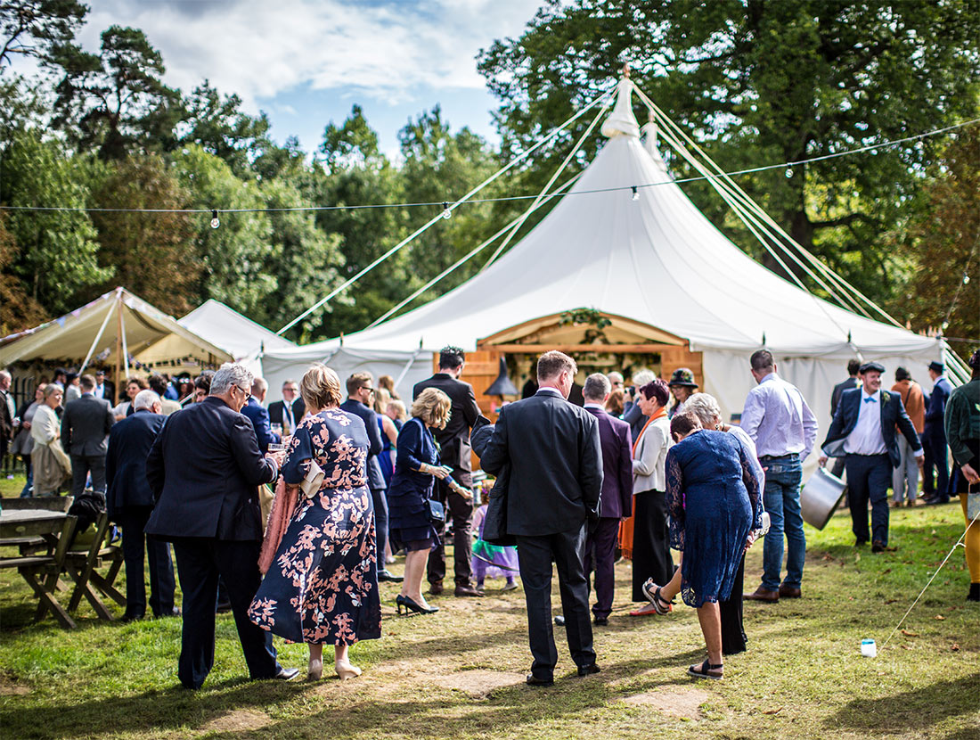 Wedding in Forest Heartwood Marquee.