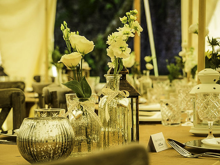 Heartwood Marquee table decor
