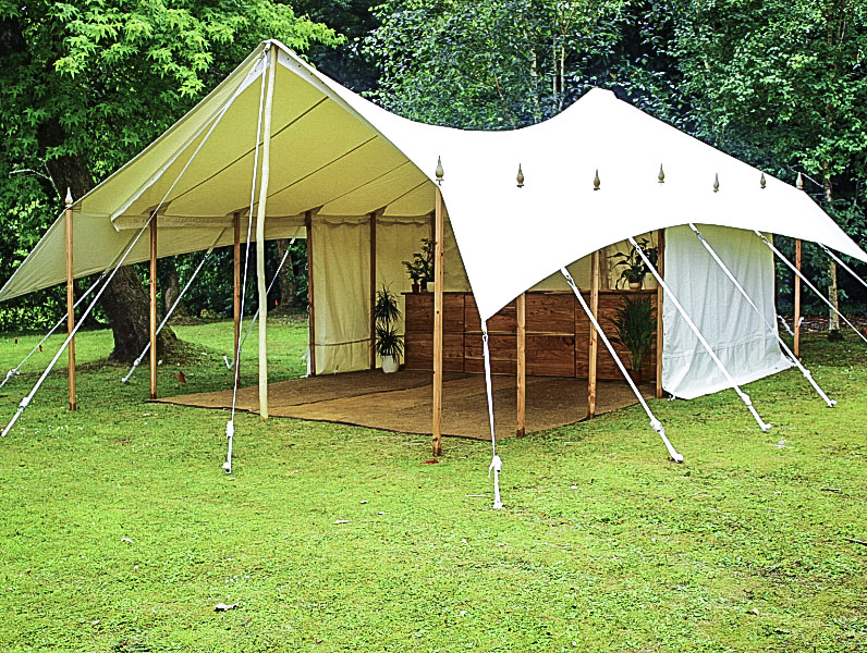 20 by 15 marquee no front walls