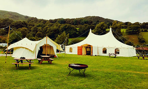 55ft Marquee and 20ft Bar Tent
