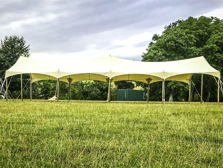 Amazing Extra Large Canvas Festival Canopy to Hire