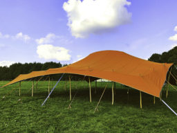 Bedouin Arc Marquee Side View