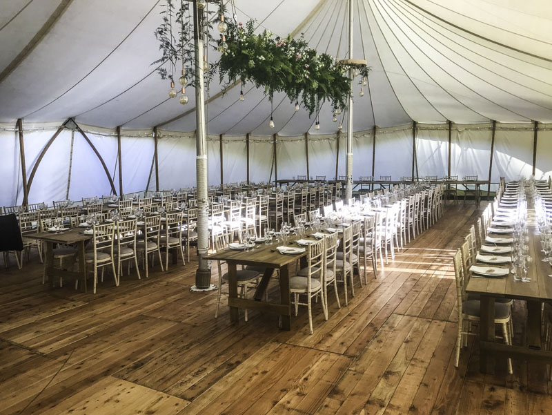 Classic Canvas Wedding Marquee Dining