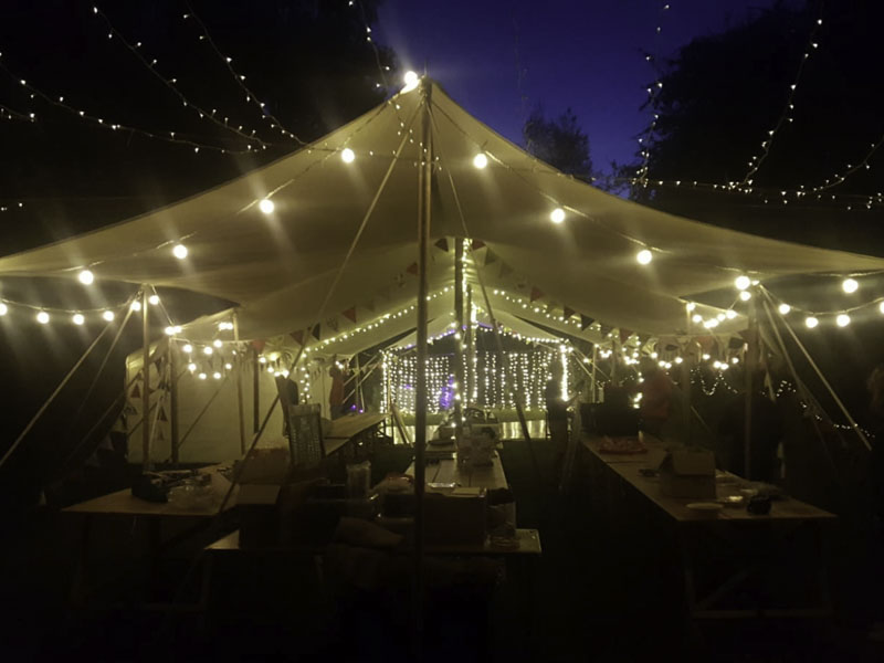 Extra Large Canvas Canopy at night
