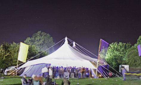 Festival Marquee at night (Woodfest 2014)