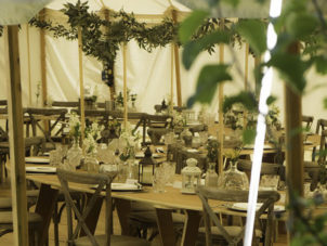 Heartwood Marquee Party Table and chairs