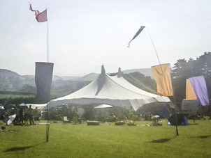 Star Marquee and Flags