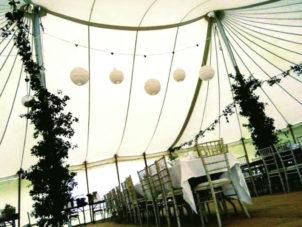 Star Wedding Marquee Interior