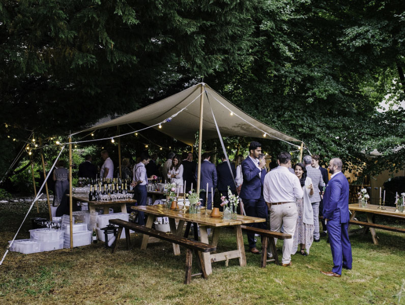 Wedding Canopy Outside Bar